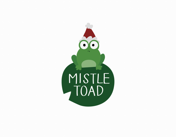 Mistle Toad Holiday Card