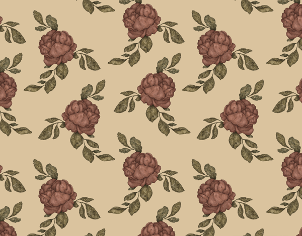 Classic Rose Pattern Stationery
