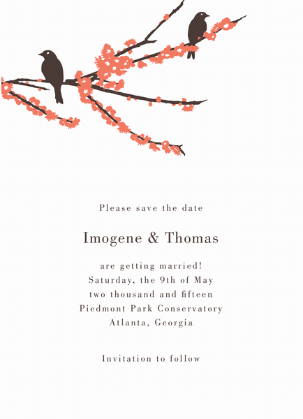 Sparrows Save the date