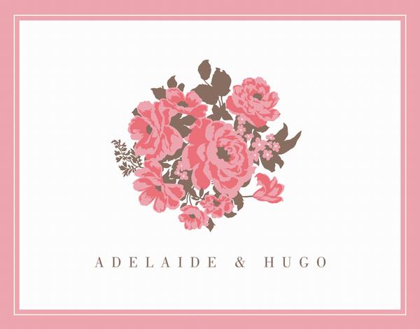 English Rose Thank You Card
