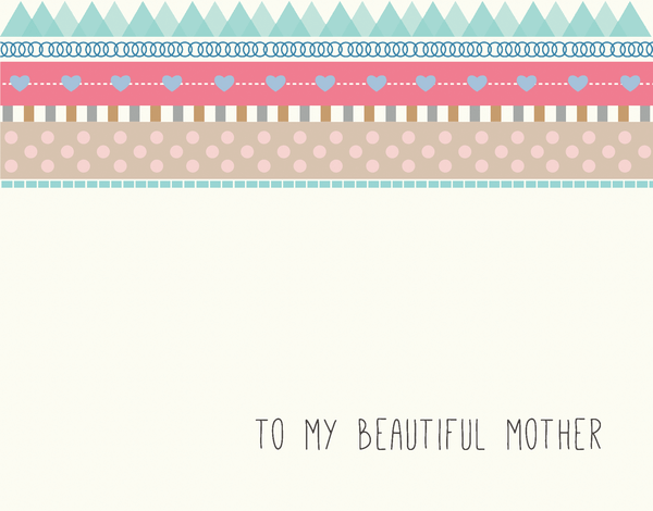 Pink Bridal Party Card for Mother
