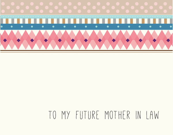 Trendy Bridal Party Card for Future Mother In Law