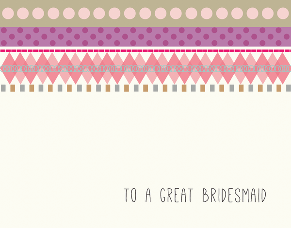 Charming Bridal Party Card for Bridesmaids