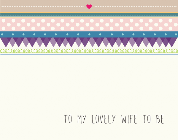 Handwritten Bridal Card for Wife To Be