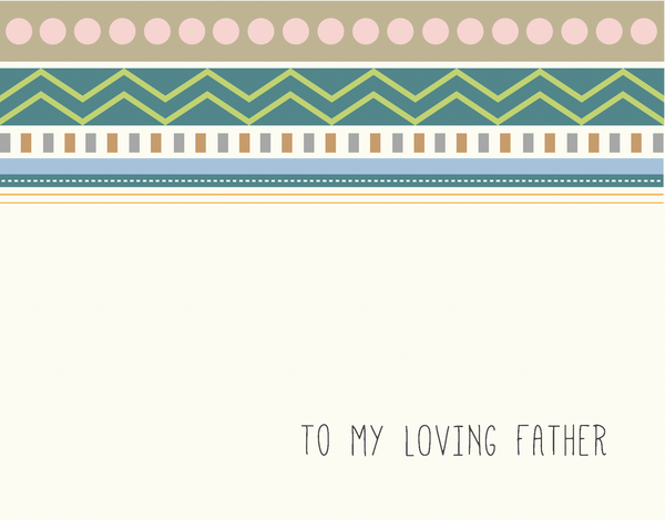 Pattern Bridal Party Card for Father