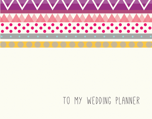 Vintage Bridal Party Card for Wedding Planner