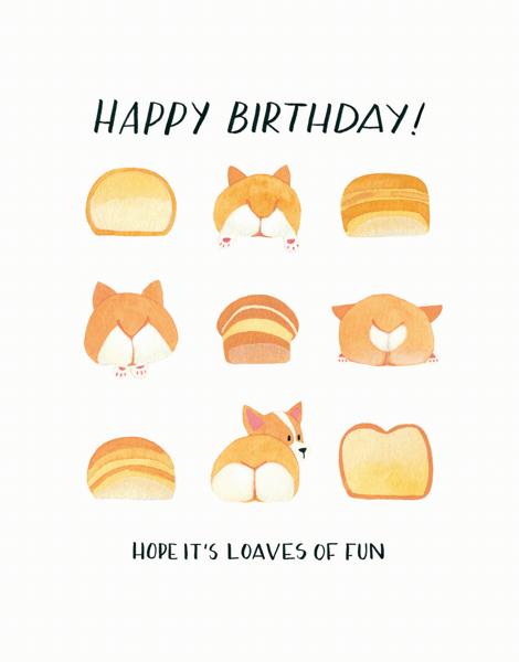 Corgi Butts Birthday