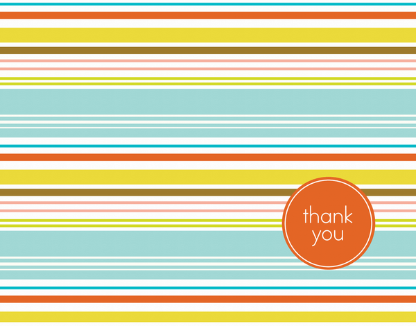 Stylish Beachy Thank You Card