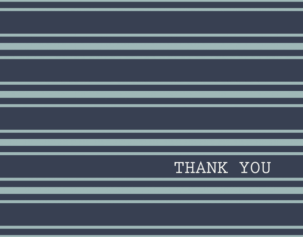 Navy Polo Thank You Card