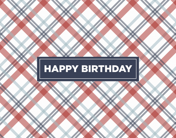 Red Plaid Birthday Card