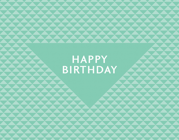 Retro Triangles Birthday Card