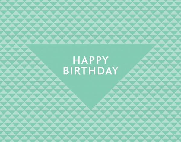 Retro Triangles Birthday Card