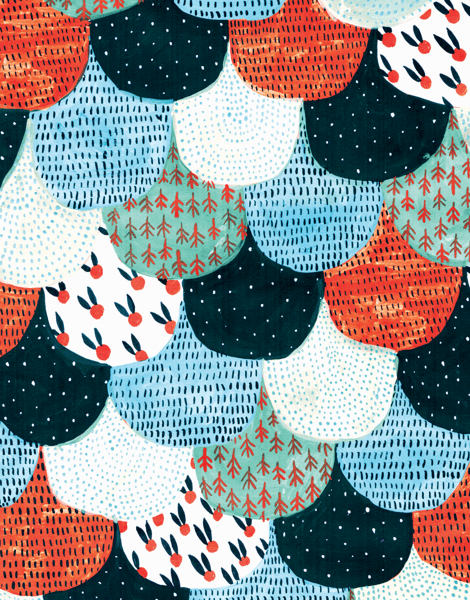 Colorful Scallop Pattern Stationery