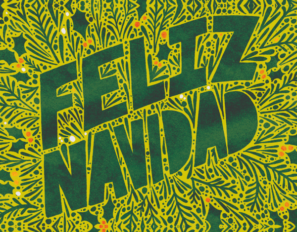 Colorful Feliz Navidad Christmas Card