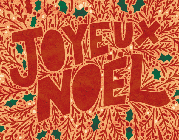 Bright Joyeux Noel Holiday Card