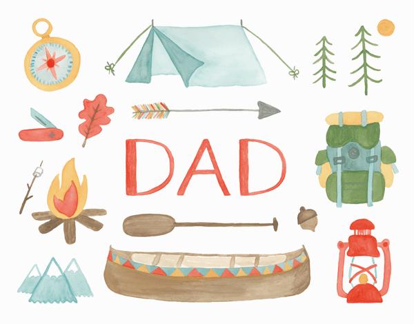 Dad Camping