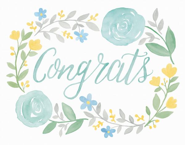 Floral Congrats
