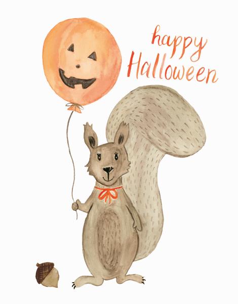 Halloween Squirrel
