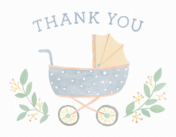 Thank You Baby Carriage