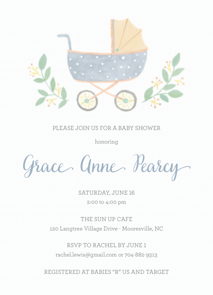 Baby Shower Carriage