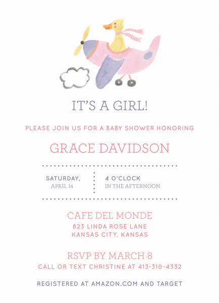 Baby Shower Duck Girl