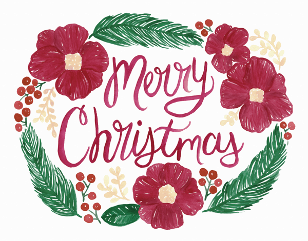 Painted Christmas Wreath