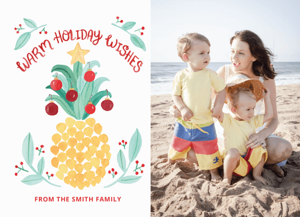 warm-holiday-wishes-pineapple-photo-card