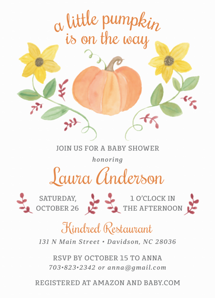 Pumpkin Baby Shower