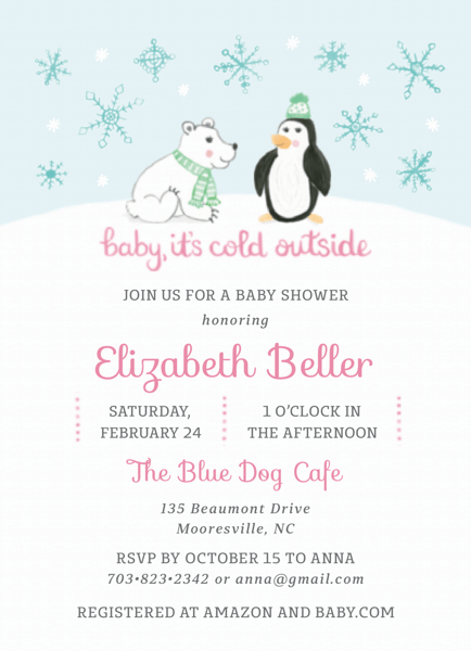 Winter Baby Shower Pink