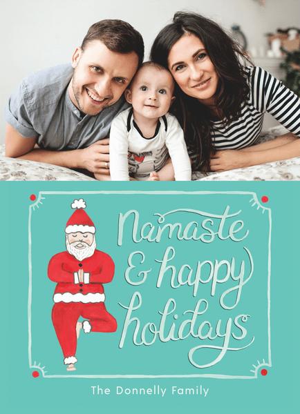 Santa Namaste Photo