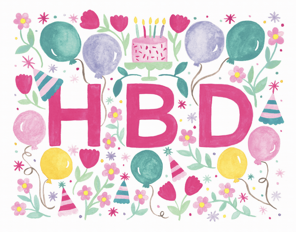 HBD Party Card