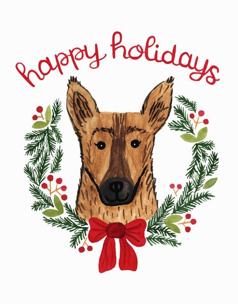 Holiday German Shepherd