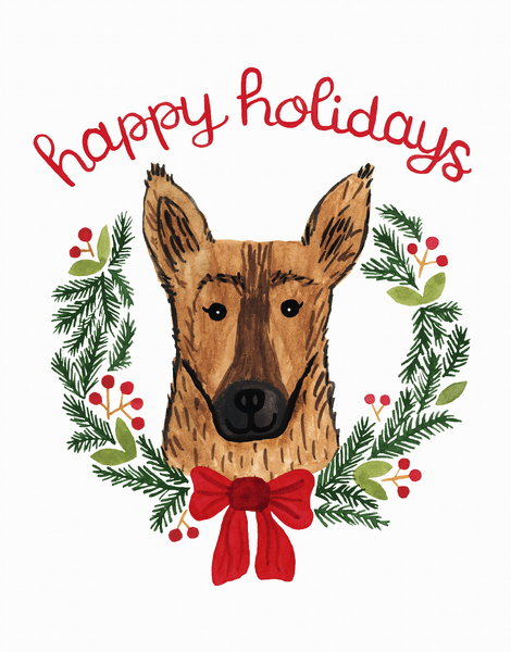 Holiday German Shepherd