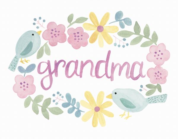 Grandma Bird Border