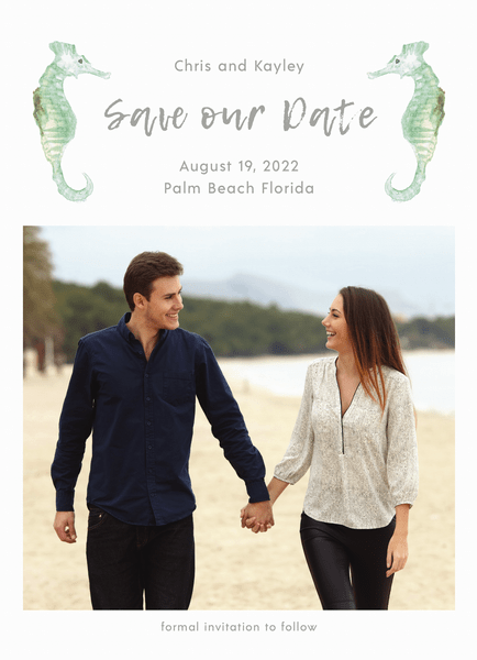 Seahorse Save The Date