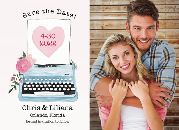 Typewriter Save The Date