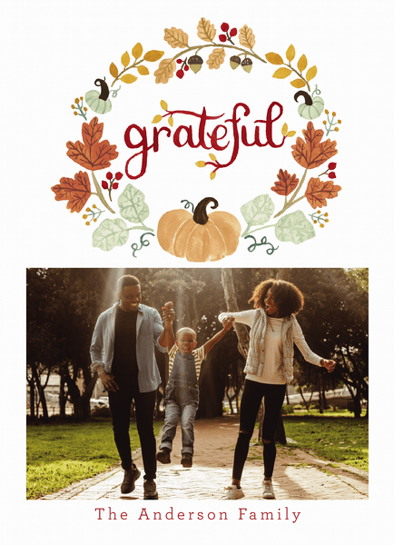 Grateful Pumpkin Wreath
