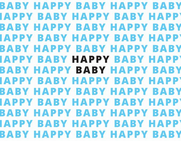 Happy Baby Blue