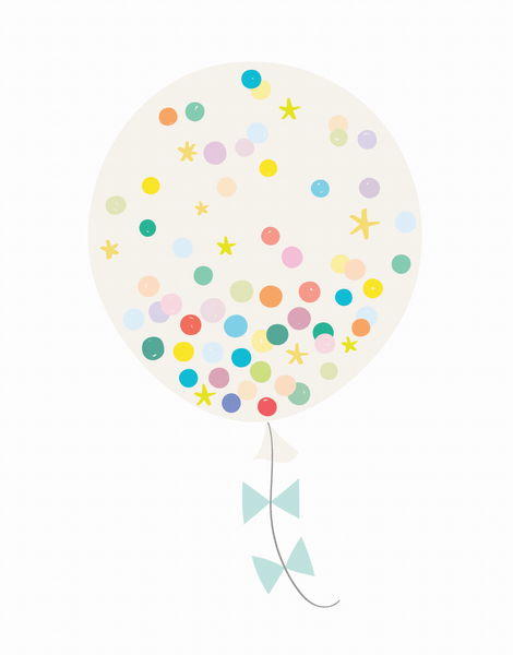 Confetti Balloon Cream