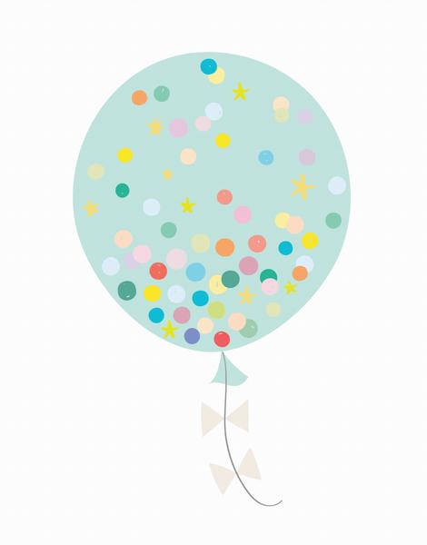 Confetti Balloon Turquoise