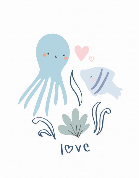 Love Octopus And Fish
