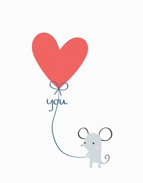Mouse Love Balloon