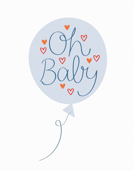 Oh Baby Balloon Blue