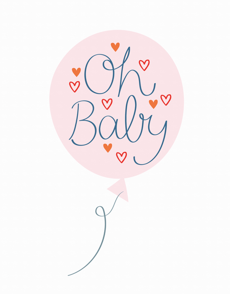 Oh Baby Balloon Pink
