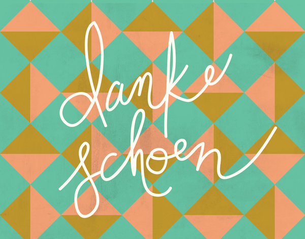 Retro Danke Schoen thank you note