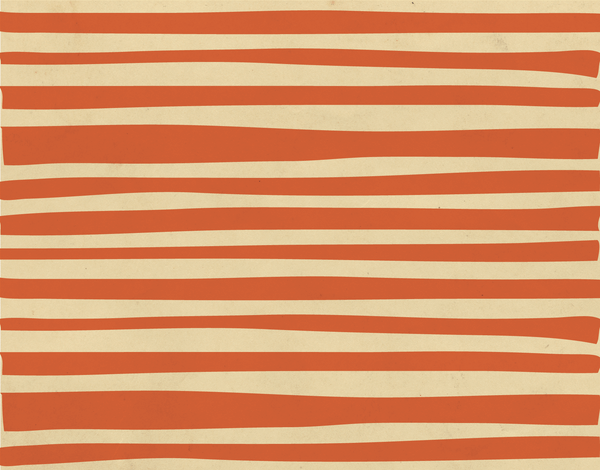 Rustic Orange Stripes Stationery