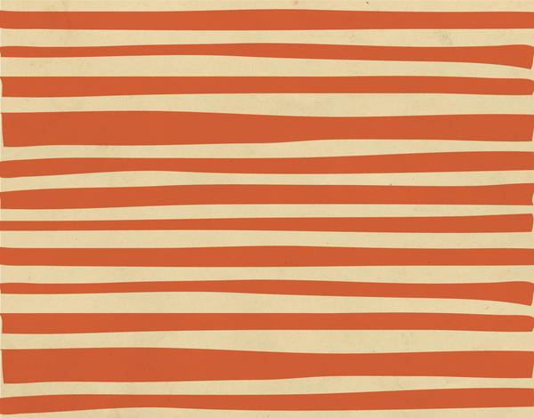 Rustic Orange Stripes Stationery