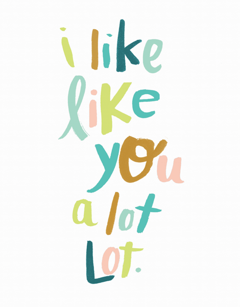 Quirky I Like You Card