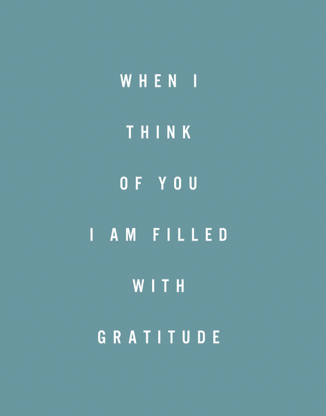 Filled With Gratitude