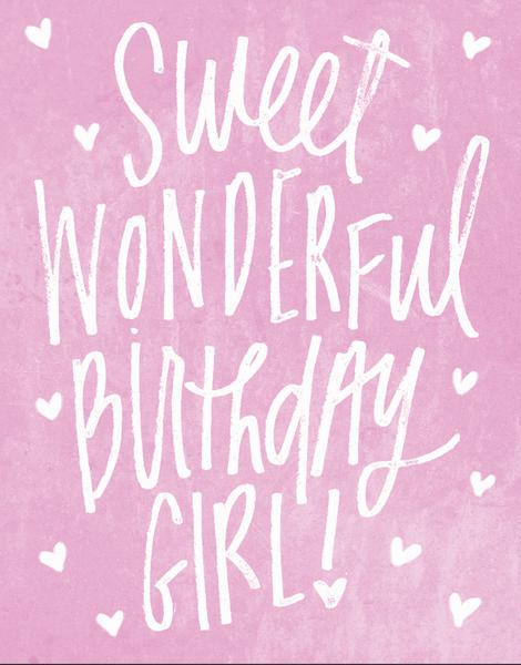 Sweet Birthday Girl